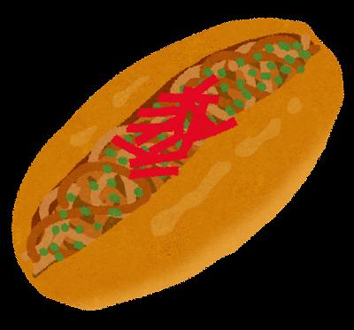 年賀状 2013 年賀状 無料 : 焼きそばパンのイラスト | 無料 ...