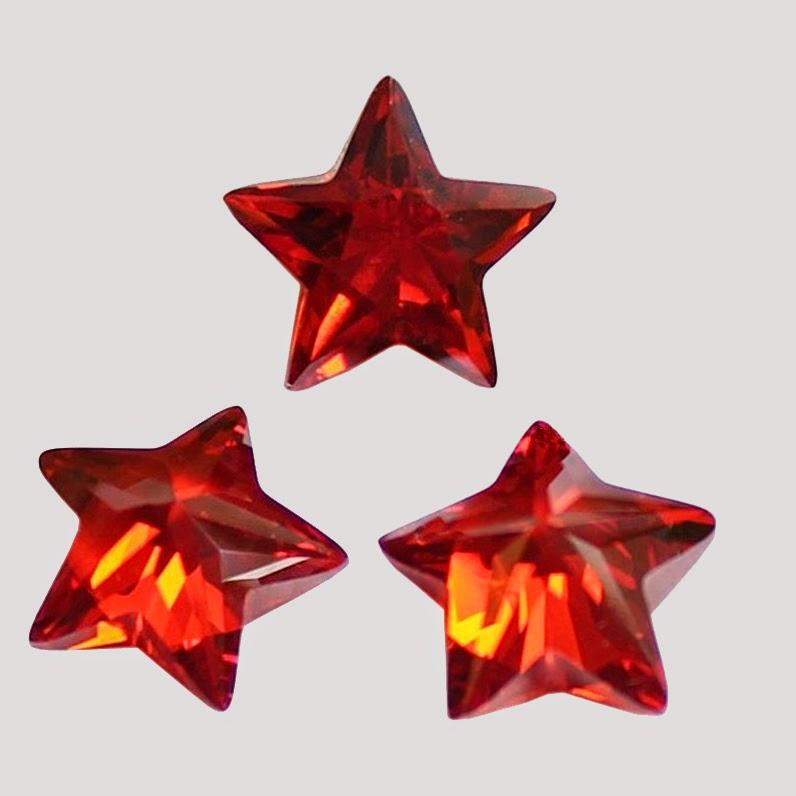 Garnet Cubic Zirconia Star