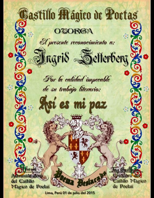 Poema destacado en el foro Castillo Mágico de poetas
