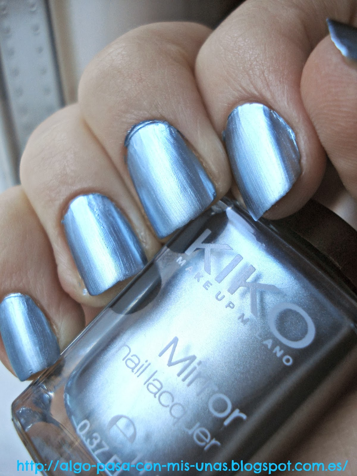 Algo pasa con mis u as swatch esmaltes kiko mirror collection 624 blue sky - Pintaunas efecto espejo kiko ...