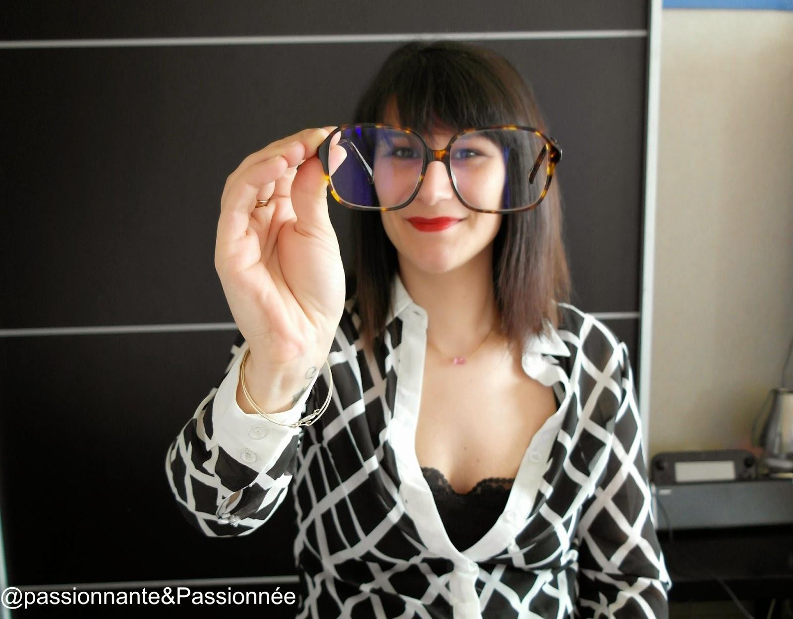 lunettes grands carreaux