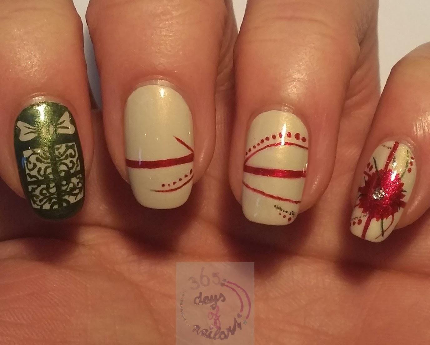 365+ days of nail art: Day 345) Nail art Christmas gift