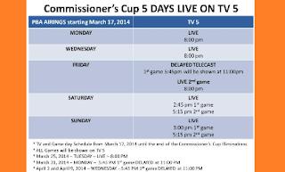 PBA Games Schedule