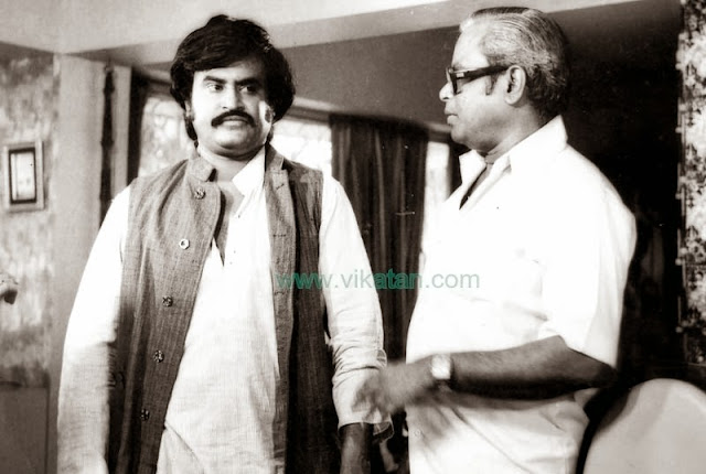 Super Star Rajinikanth & K. Balachander in 'Thillu Mullu' Shooting Spot