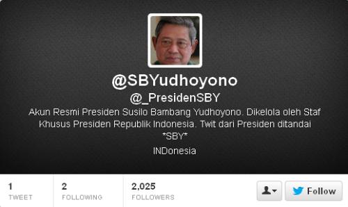 Twitter SBYudhoyono _PresidenSBY