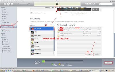 cara transfer file dari laptop ke ipad