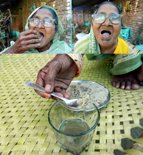 wanita pemakan pasir