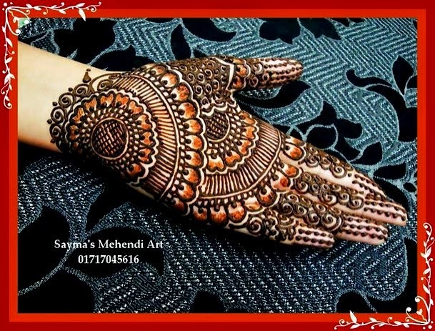 Gorgeous mehndi designs 2014