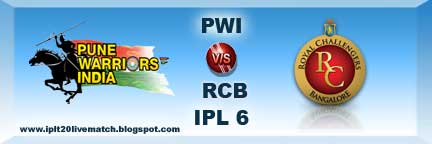 IPL 6 PWI vs RCB Live Streaming Video IPL 6 Highlight Video