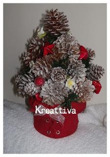 Centro tavola natalizio con pigne e palline kreattivablog for Centrotavola natale pigne