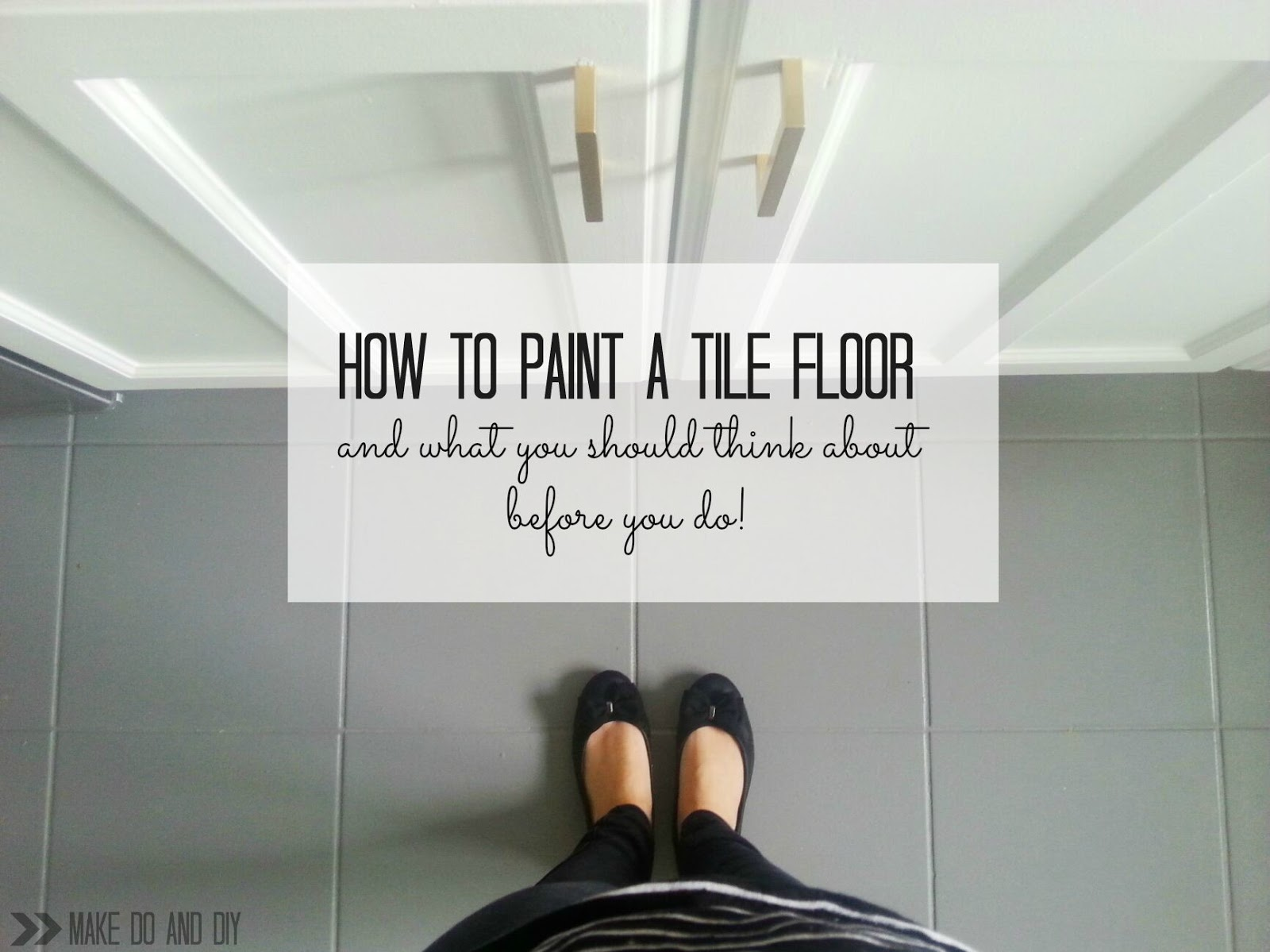 Painted tile floor no really make do and diy - Can i paint over bathroom tiles ...