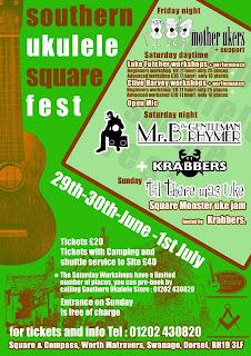 southern ukulele square fest flyer