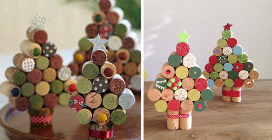 6 ideas para esta navidad con tapones de corcho manualidades On figuras con corchos