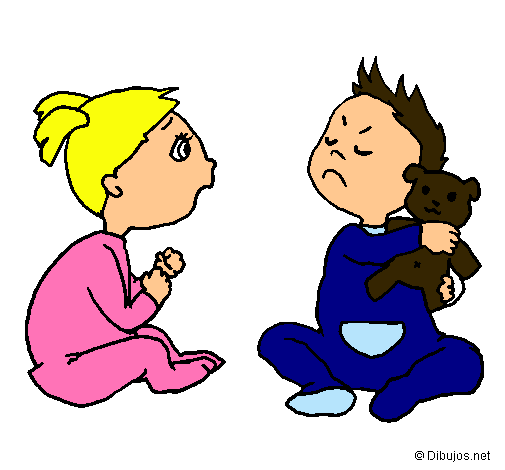 Dibujos faciles de niños peleando - Imagui