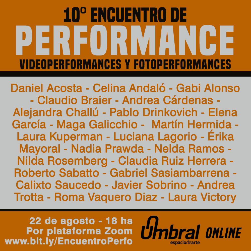 X Encuentro Peformance Umbral