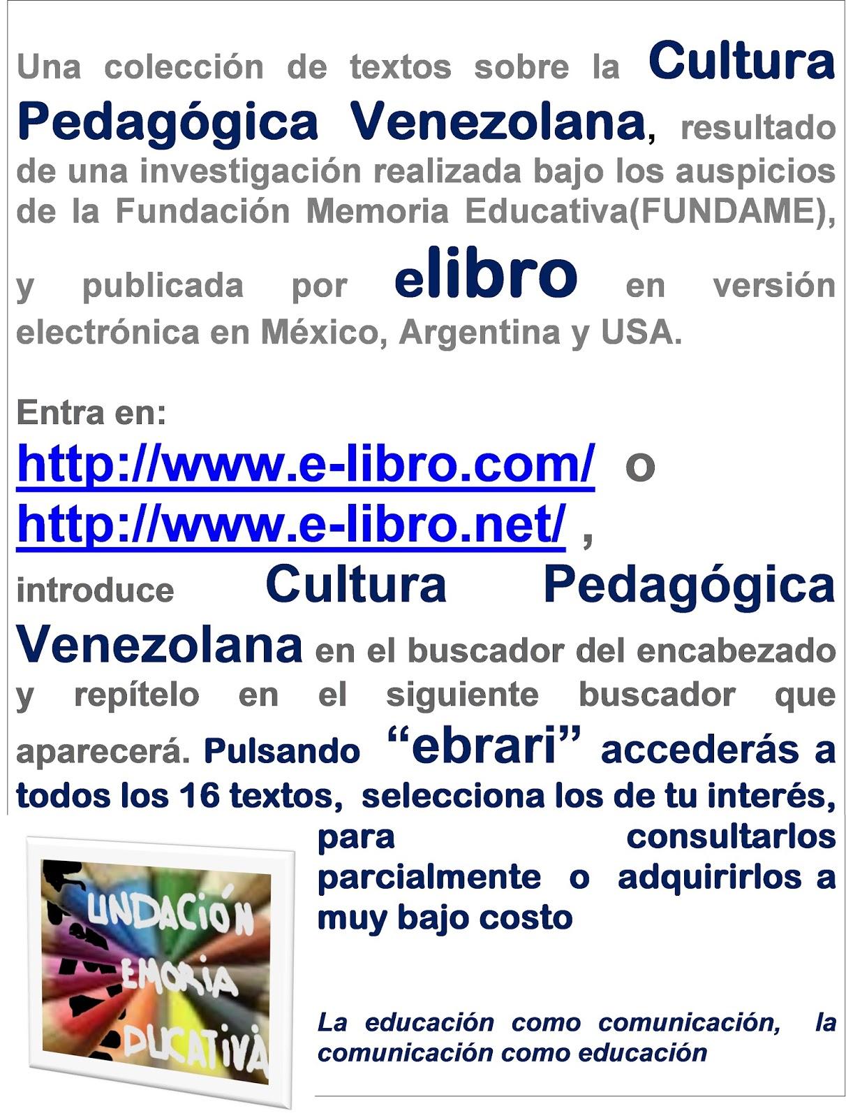 Memoria Educativa Venezolana, paso a paso: 19/10/14 - 26/10/14