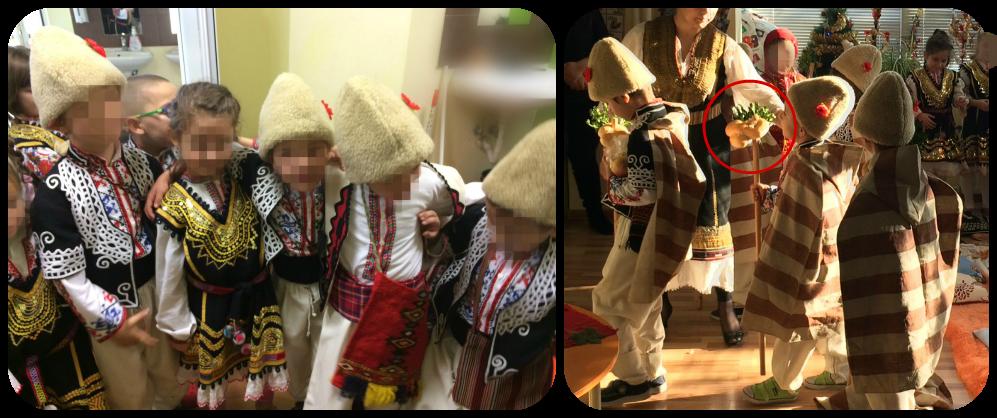 Trajes tradicionales búlgaros de Navidad