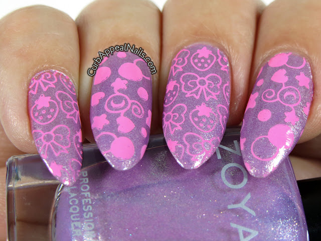 Kawaii Stamping with Zoya Hudson and Mundo de Unas Orchid