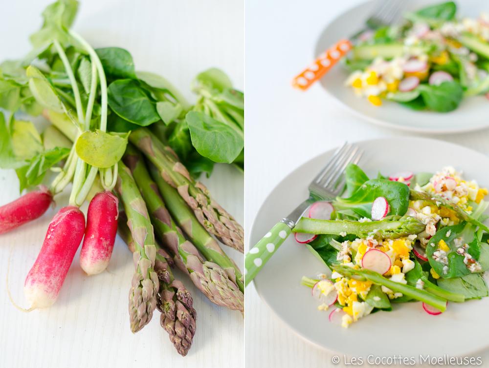 La salade aux asperges menu de p ques 1 les cocottes for Entrees froides pour paques