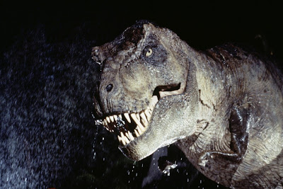 Tiranosaurus Rex en una toma de Jurassic Park, de Steven Spielberg