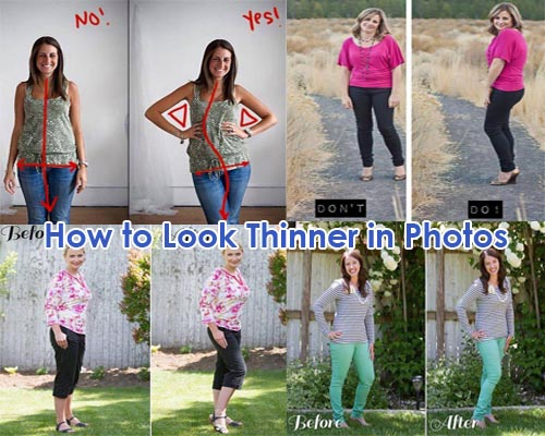 How to look thinner in photos