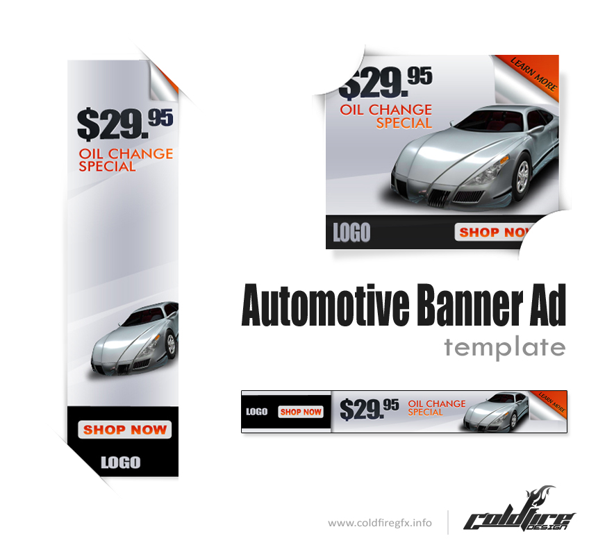 Auto Banner ad psd Template