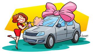 Cuidados com o carro - ilustração de Alexander Santos