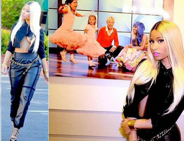 Nicki Minaj Ellen Wardrobe Malfunction
