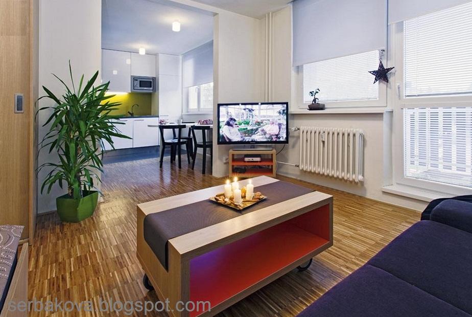 Идея для однокомнатной квартиры 35 кв.м