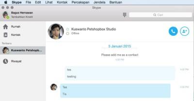 Skype 7.5 Untuk Perangkat Mac Kini Dukung Bahasa Indonesia