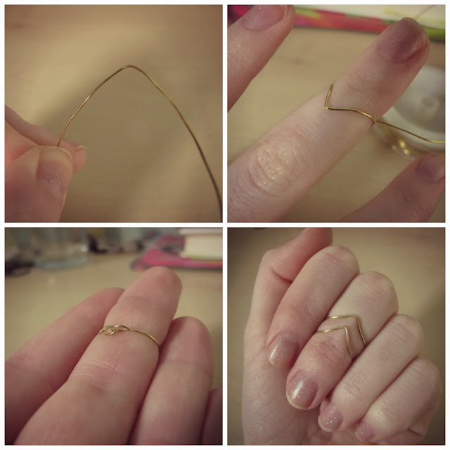 DIY Chevron Midi Ring Step by Step Tutorial
