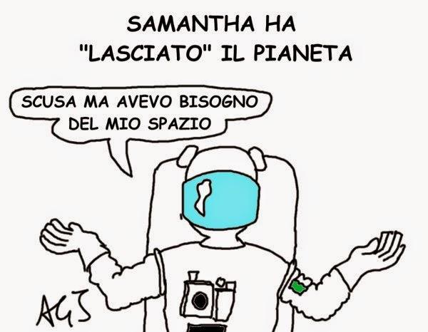 ISS, Samantha Cristofolini, umorismo