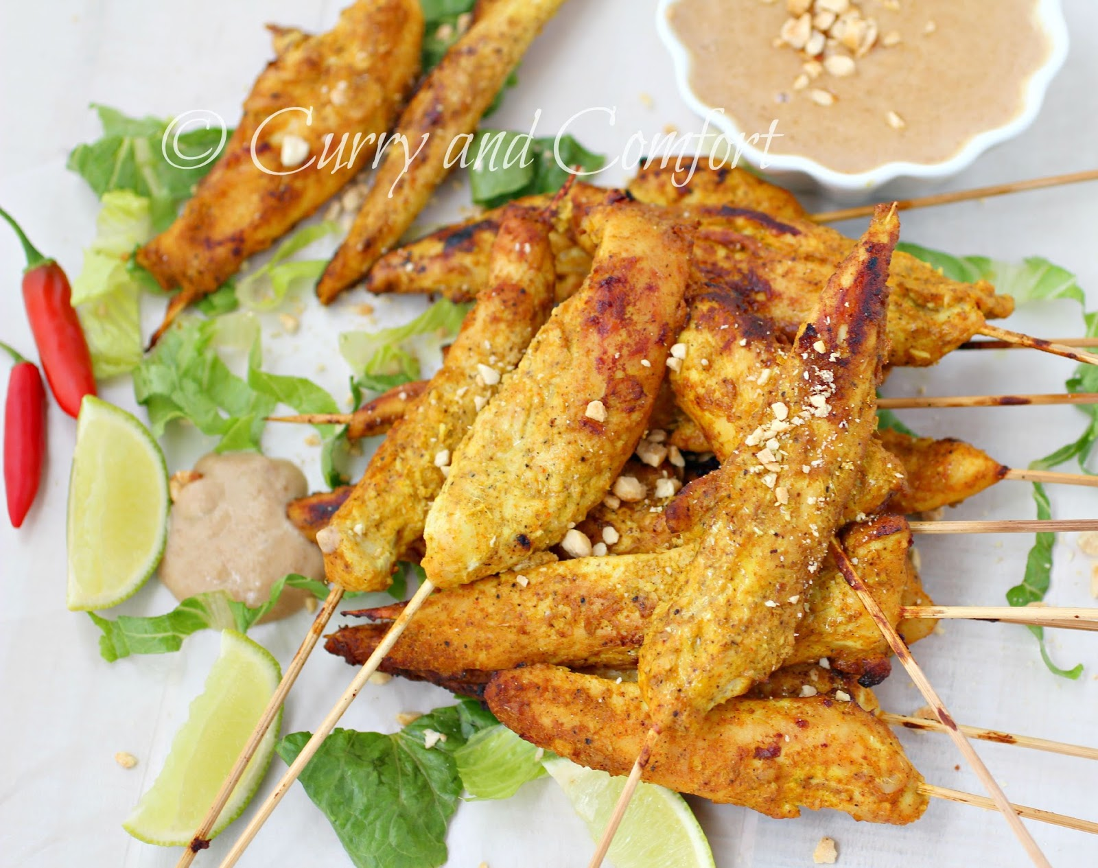 satay sauce grilled saffron chicken skewers tuscan grilled chicken ...