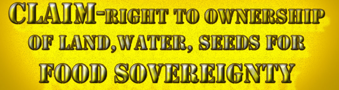 Protect the right to land, water, seeds for food sovereignty