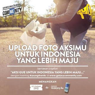 Upload Foto Aksi Berhadiah Samsung Galaxy A8