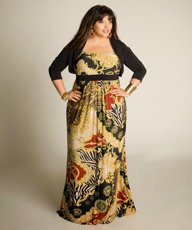Imagenes de maxi vestidos para gorditas