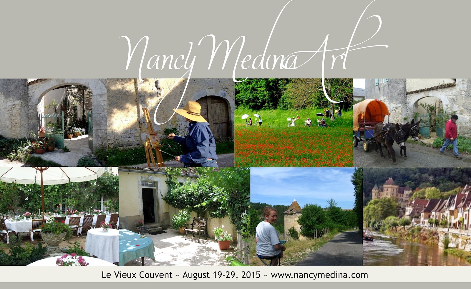http://nancymedina.fineartstudioonline.com/page/4705/august-19-29-2015-le-vieux-couvent-southern-france-nancy-medina-art-llc