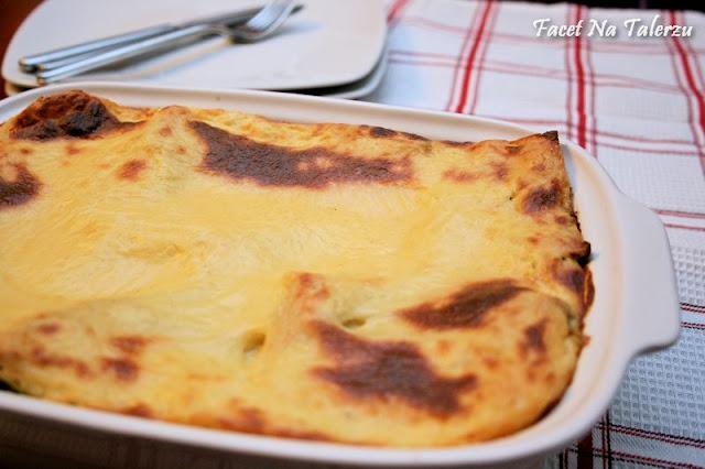 lasagne z podgrzybkami i szpinakiem