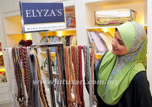 Iman decor langsir, inovasi rekaan dalaman, Elyza's Fabrics, gambar langsir elyza, Elyza's House of Window Dressings,