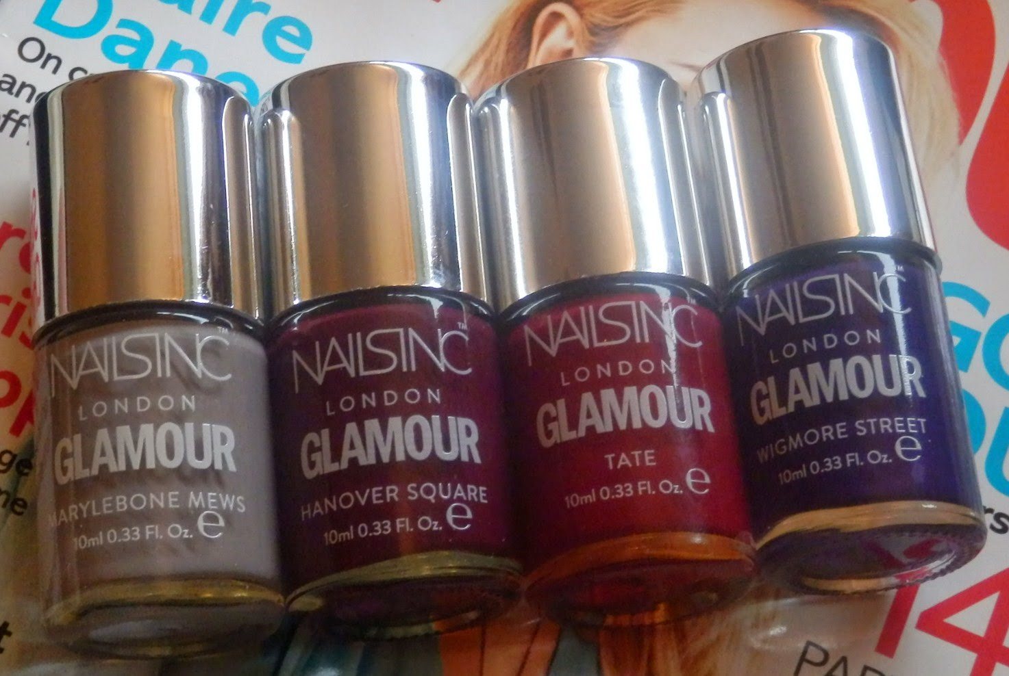 Glamour Magazine Nails Inc Freebies - December 2014