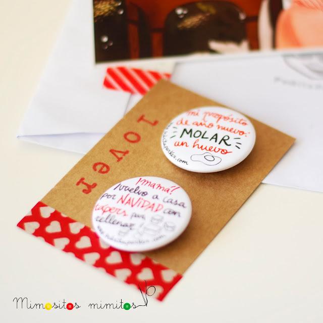 Pedrita Parker chapas postales navidad regalos