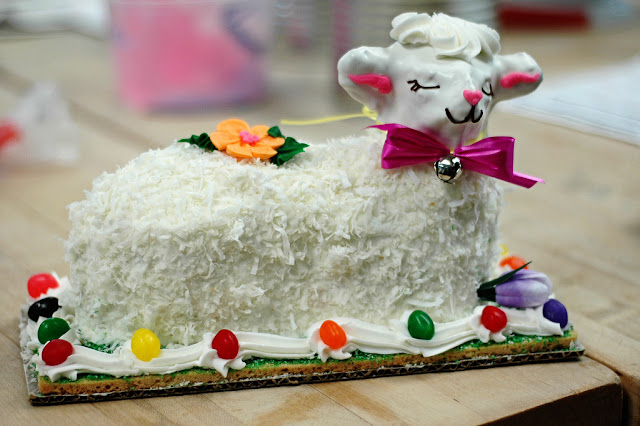 Easter Lamb cake from Swedish Bakery Chicago