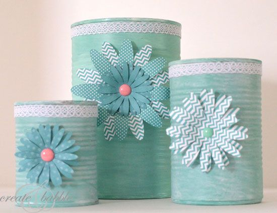Painted Tin Cans Wedding