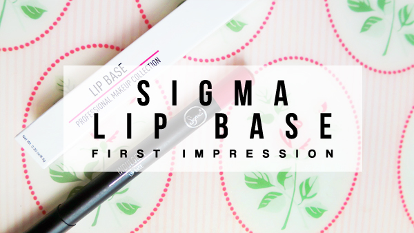 sigma lip base swatch review