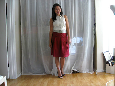 Wear and Wear Again | Pleated A-line skirt