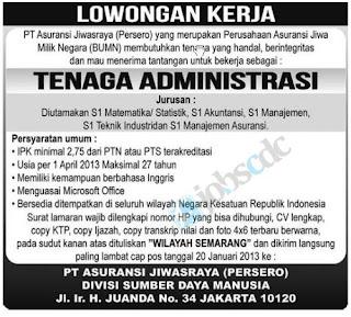 Lowongan Kerja BUMN PT Asuransi Jiwasraya untuk Tenaga ...