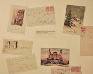 cartoline riprodotte al museo Joyce