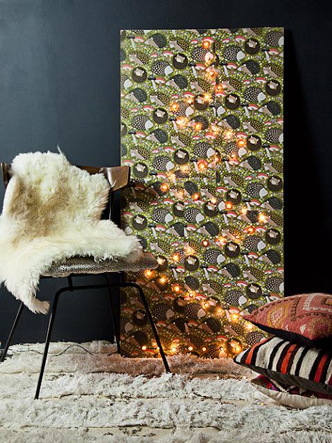 Weihnachtsbaum aus einer Lichterkette selbermachen