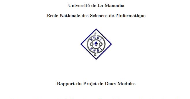 rapport du projet de deux modules conception et r