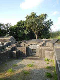 Okinawan tomb shaped like a turle's back